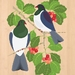 Kereru on Puriri - Native NZ Bird Art Print on bamboo veneer