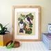 Kereru on Puriri - Native NZ Bird Art Print on bamboo veneer