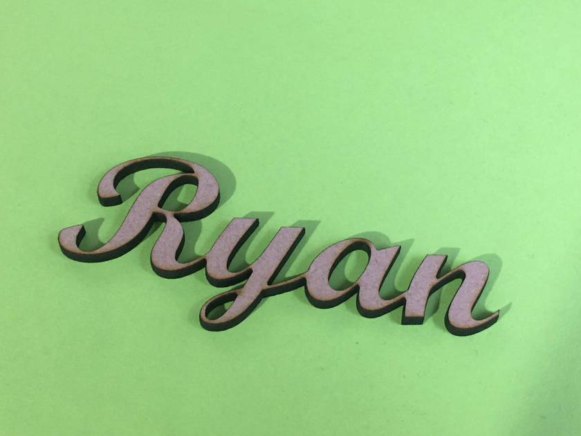 Wooden Name Tags (x5)