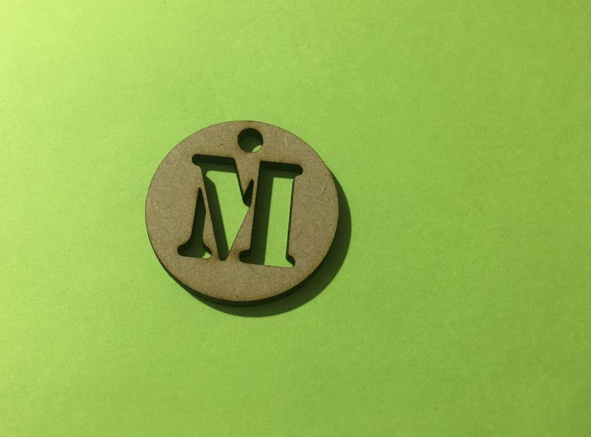 Wooden Letter Tags (x5)