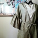 Vintage kimono silk jacket / long cardie