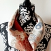 Vintage kimono silk snood