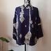 Vintage kimono silk flute sleeve top