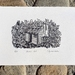 Original linocut artwork - Martins Hut