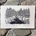 Original linocut - Pelorus River