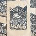 Original Linocut - Buttercups, the River and Aoraki