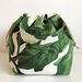 Printed cotton canvas drawstring hand bag lunch bag small project bag