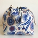 Gum Blossom Cotton canvas drawstring hand bag lunch bag small project bag