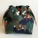 Friendly Forest cotton canvas drawstring hand bag lunch bag small project bag
