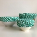 Set Of Three Eco-Friendly Reusable Bowl Covers Green Gingham