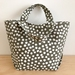 Printed Dots Cotton canvas hand bag lunch bag small project bag