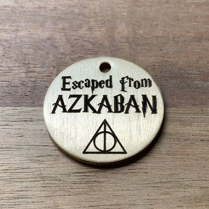 'Escaped from Azkaban' Pet Tag