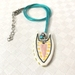 Abstract cat - colourful ceramic necklace