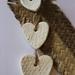 Woven Harakeke Pattern Ceramic Hearts
