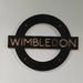 London Underground Tube Sign_Wimbledon - Plywood