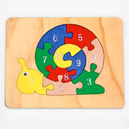 Learn to Count Snail Puzzle