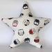 Little Owls Star-shaped Cushion