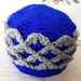 Cute crochet crown for a baby