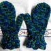 Children's mittens in merino age 3-4
