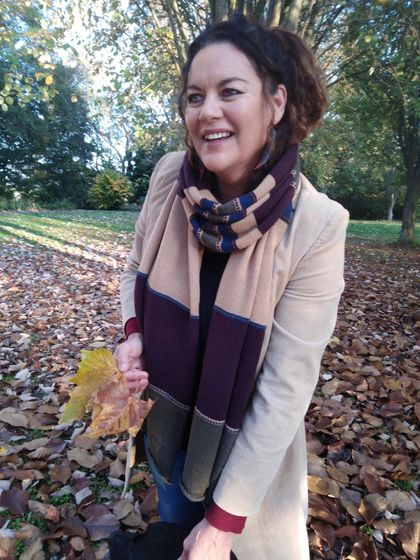 Gorgeous rich tones winter scarf.