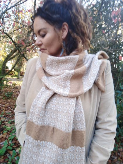Beautiful  Silk Cashmere Merino scarf.