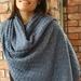 Fluffy Lace wrap in Cashmere Silk Merino