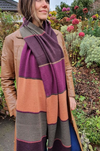 Very long merino scarf.