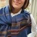 Warm blue merino scarf.
