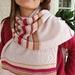 Pink merino pattern scarf.