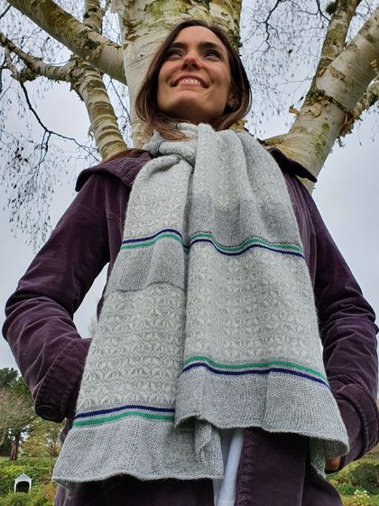 Beautiful cashmere silk merino scarf.