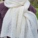 Long lace scarf  Cashmere Silk Merino