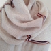 Soft pink cream cashmere, silk, merino scarf.