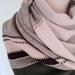 Warm merino vintage stitch scarf