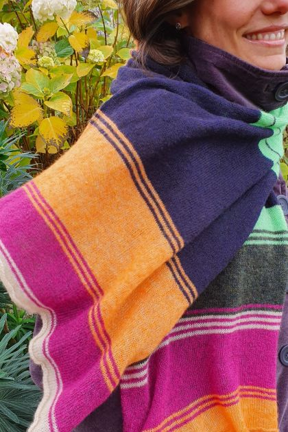 Super fine long colourful scarf