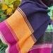 Super fine long colourful scarf