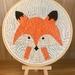 Fox Embroidery Hoop
