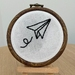 'Paper plane' Embroidery Hoop - Small