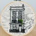'The town house' Embroidery Hoop