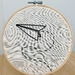 'Paper plane' Embroidery Hoop - Medium