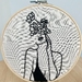 'Flower power' Embroidery hoop