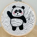 'Panda Bear' Embroidery Hoop