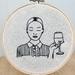 'Oozing intelligence' Embroidery Hoop