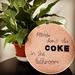 'Don't do Coke' Embroidery Hoop