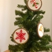 The Christmas Trio Embroidery Hoops/Christmas Decorations