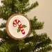 'Christmas Candy Cane' Embroidery Hoop- Christmas Decoration