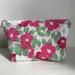 Camellia Pattern Zipper Pouch - Pink