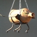 Terracotta n Steel FLYING PIG Planter
