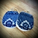 up cycled willow pattern earrings