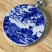 up cycled vintage ceramic pendant