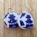 up cycled vintage ceramic earrings